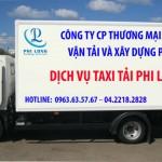 Dịch vụ taxi tải tại quận long biên
