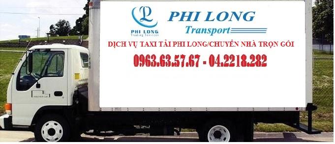 Dịch vụ taxi tải phi long tại phố Bồ Đề