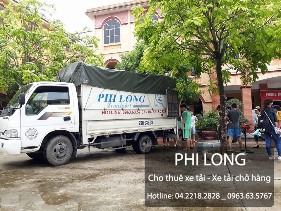 Phi Long cho thuê xe tải cung cấp dịch vụ chuyển nhà tại phố Cát Linh
