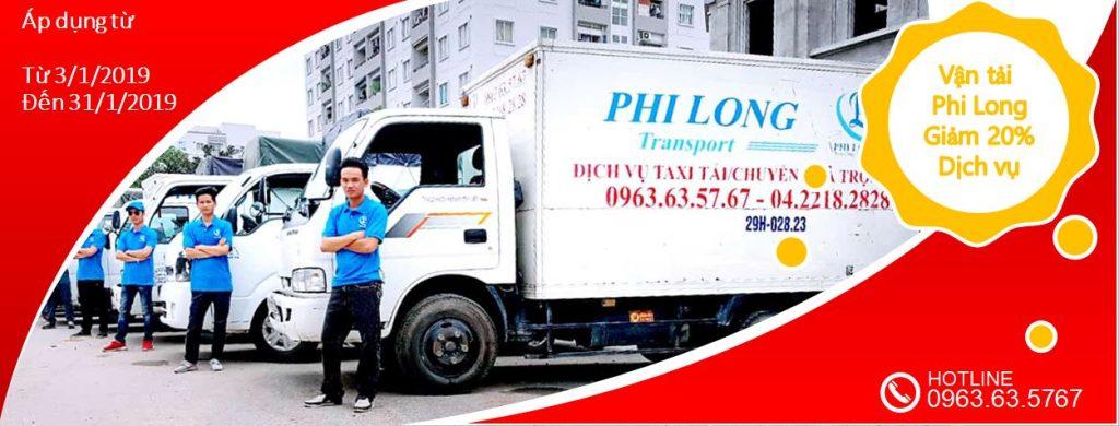 Dịch vụ cho thuê xe tải giảm giá 20% nhân dịp tết Kỷ Hợi