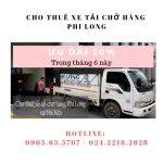 Dịch vụ cho thuê xe tải giá rẻ Phi Long tại phố Cầu Am