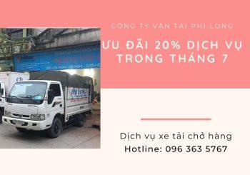 Dịch vụ cho thuê xe tải Phi Long tại xã Thống Nhất